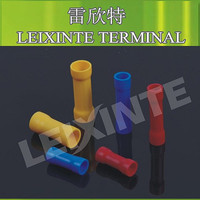 Good quality yellpow color BV5.5 long middle joint butt automotive electrical terminal