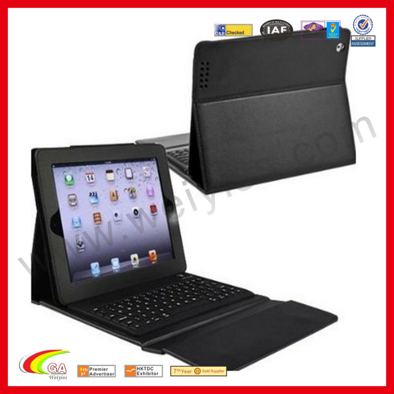 For apple ipad air,bluetooth wireless keyboard for iPad5,leather case stand cover for ipad air