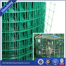 2 Inch x 4 Inch Mesh 14 Gauge Green Plastic Coated Wire Mesh Fence 36 Inch Tall x 100 Feet Long