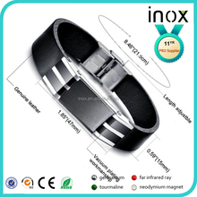 Inox fashion316L stainless steel japanese far infrared magnetic health bracelet