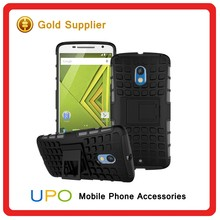 [UPO] 3 in 1 Popular Elements Tire Lines TPU + PC Hybrid Combo Holder Stand Phone Case For Motorola Moto X Play