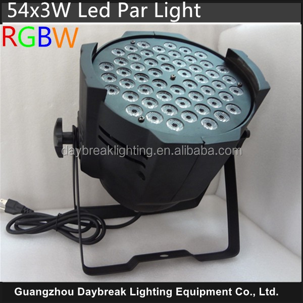 54x3 led 54 3w par light RGBW led par54 for dj club bar stage wash wall effect