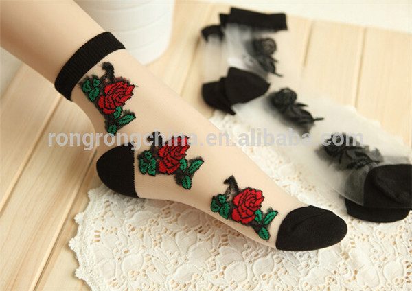 Cheapest Wholesale Chin factory in-stock fancy socks fashion sexy ladies boot ankle socks colorful ankle socks