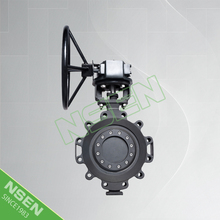 NSEN Hot Sale Triple Offset Lug Type Metal Seated Butterfly Valve With Worm Gear Operated WCB
