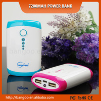 mobile power supply 7800mah with digital screen led indicator pocket power bank