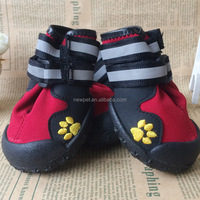 China wholesale competitive price anti-slip waterproof sole medium large dogs rain boots pet shoes
