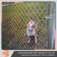 Dog proof chain link fence and chain link fence dog run