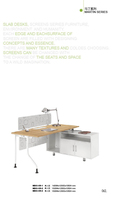 double sided personal office desk with drawers sell directly DY32