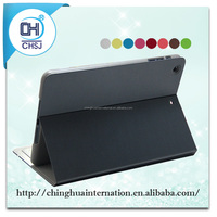 PU leather tabelt cases for IPAD mimi can stand on the table