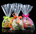 Customized plastic cellophane candy biscuit packing bags snack food bag
