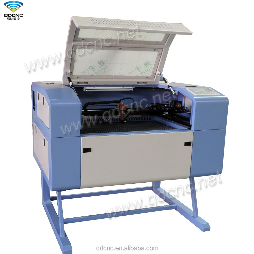 mini laser cutting machine 60W 6040 80 watt co2 laser cutter with 600mm*400mm QD-6040