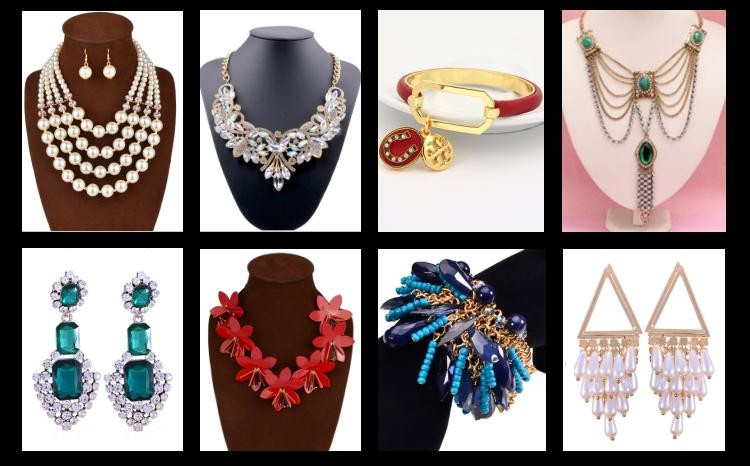 Gorgeous Metal Chain Retro Fancy Crystal Chunky Statement Necklace For Female Party Fashion Jewelry