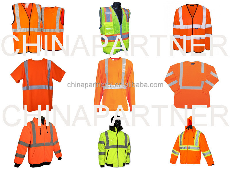 Fluorescent safety work clothing