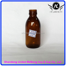 Hot sale 150ml amber/brown Medicine Oral Liquid Glass Bottle With Screw Aluminum Cap