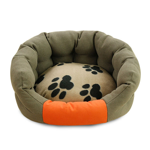 New arrival printing winter PP cotton filled bolster dog bed
