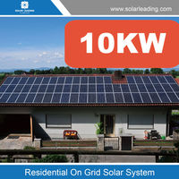 High efficiency 10kw home on grid solar energy systems include poly solar panel also with inverter 220v to 380v