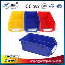 Back hanging storage industrial use plastic bins