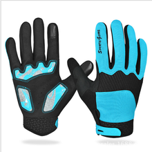 Sweat warm non slip cycling gloves touch screen full finger long sport gloves