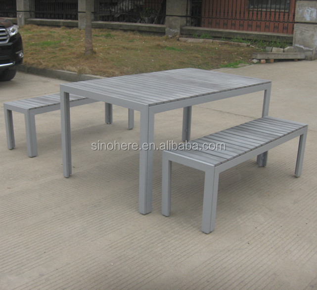 Plastic Wood Material and Aluminum Metal Type Antique Wooden Outdoor Furniture