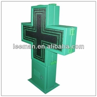 electronic cross sign board outdoor led pharmacy cross led programming cross sign display