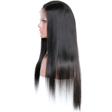 180% Heavy Density100% Brazilian Remy Human Hair Silky Straight 360 Degree Lace Front Wigs