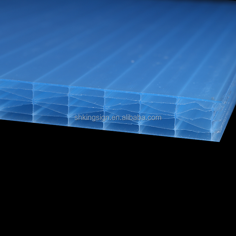 Specially multiwall polycarbonate hollow sheet