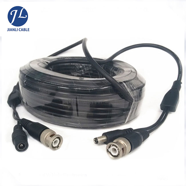 15meters BNC RCA DC female to male extension cable for car audio monitoring system