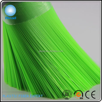 0.40mm green PET broom filament broom fiber with excellent elastic and shiny color