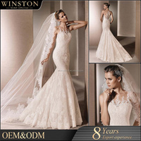 2016 Fashion High Quality very long tail wedding dress