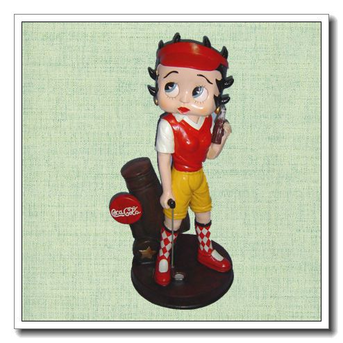 SY home furniture golfer lady of home decoration Beautiful Collectible home furniture for club Resin vintage furniture