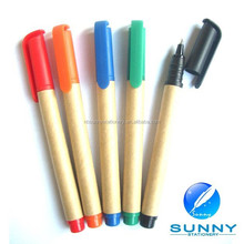 wholesale recycle advertising paper ballpoint pen for promotion