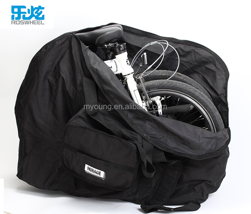 Roswheel High Quality and OEM Accepted 600D Polyester 1010g Folding Bike Bag
