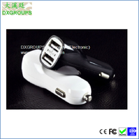 5V 2.1A Dual mini usb car charger For Cell Phones / Tablet Duckbill 2 Port USB Car Adapter