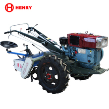 Hand Tractor Diesel Cultivator With Two Tyres For Agricultural Field Plowing