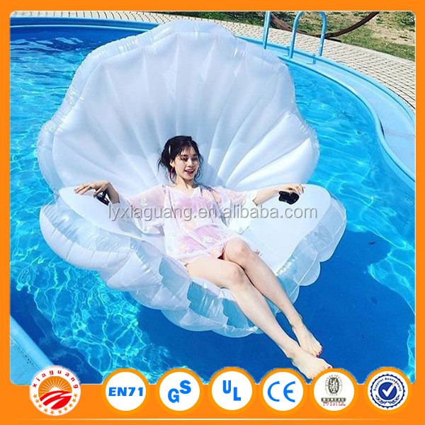 Funny toys giant custom inflatable island donut emoji watermelon pegasus seashell shell pool float