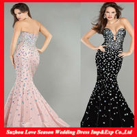 Hot selling mermaid floor evening dresses with low price