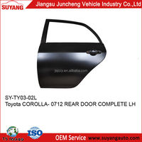 TOYOTA COROLLA 07-12 REAR DOOR CAR BROKEN DOOR PANEL REPAIRING