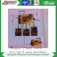 chinese 7 days mechanical movement with 8 gong