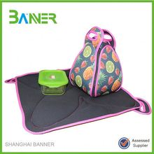 Outdoor insulated foldable neoprene Camping Lunch Tote Bag