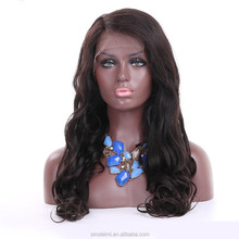 wholesale price human hair wigs 18 inch natural wave full lace wigs can make ponytail