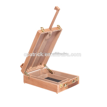Professional drawing wood table easel box