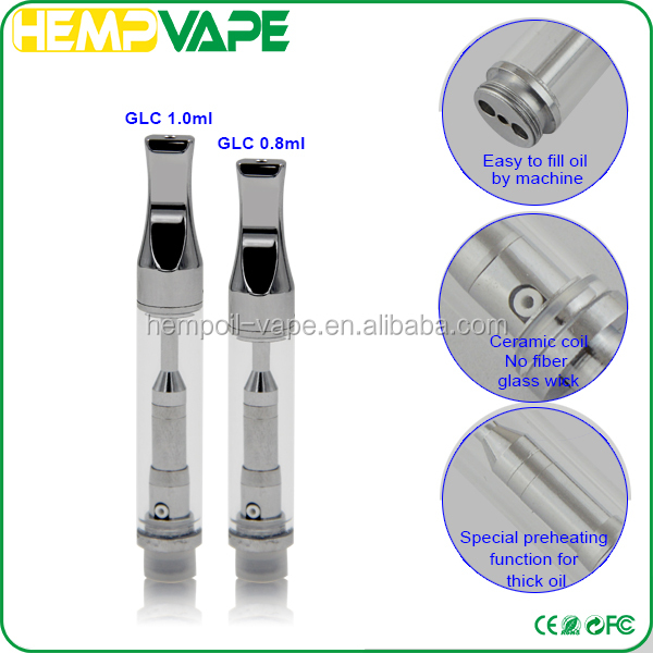 2016 best selling products CBD oil atomizer thc e cigarette BBtank GLC stainless steel slim vape pen for distributors canada