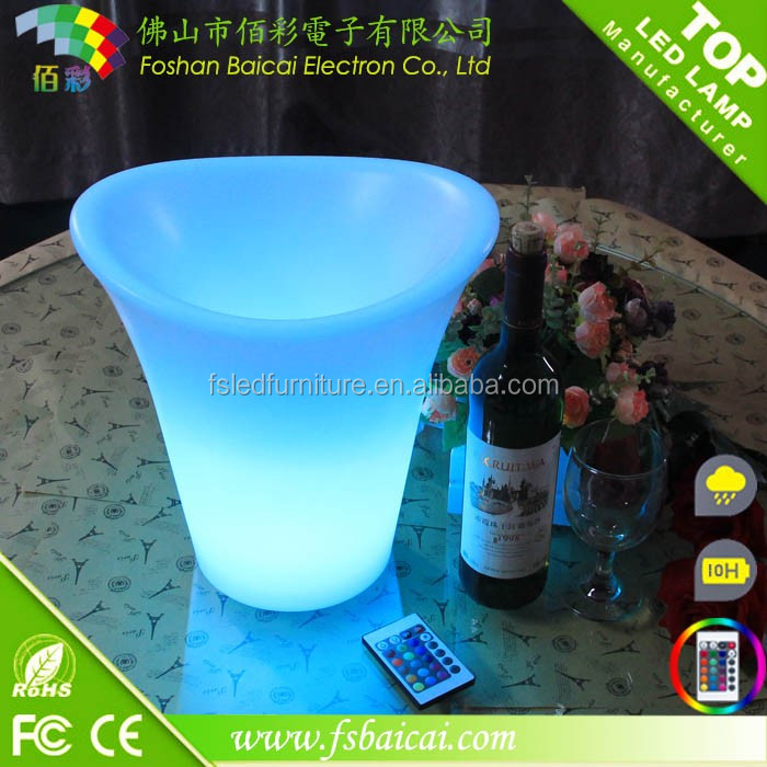 Factory Plastic Party Events Club Bar Used Illuminated LED Ice Bucket