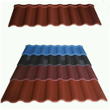 polymer sand galvanized roofing stone coated metal roof tile