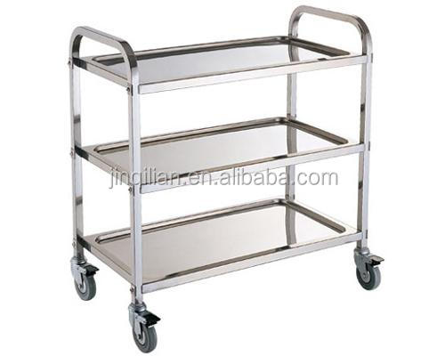 JQL-009 dining car <strong>Stainless</strong> Steel trolley hot sale trolly