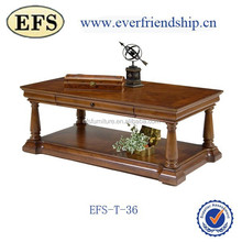 Multifunctional high quality solid wood reproduction antique coffee tables