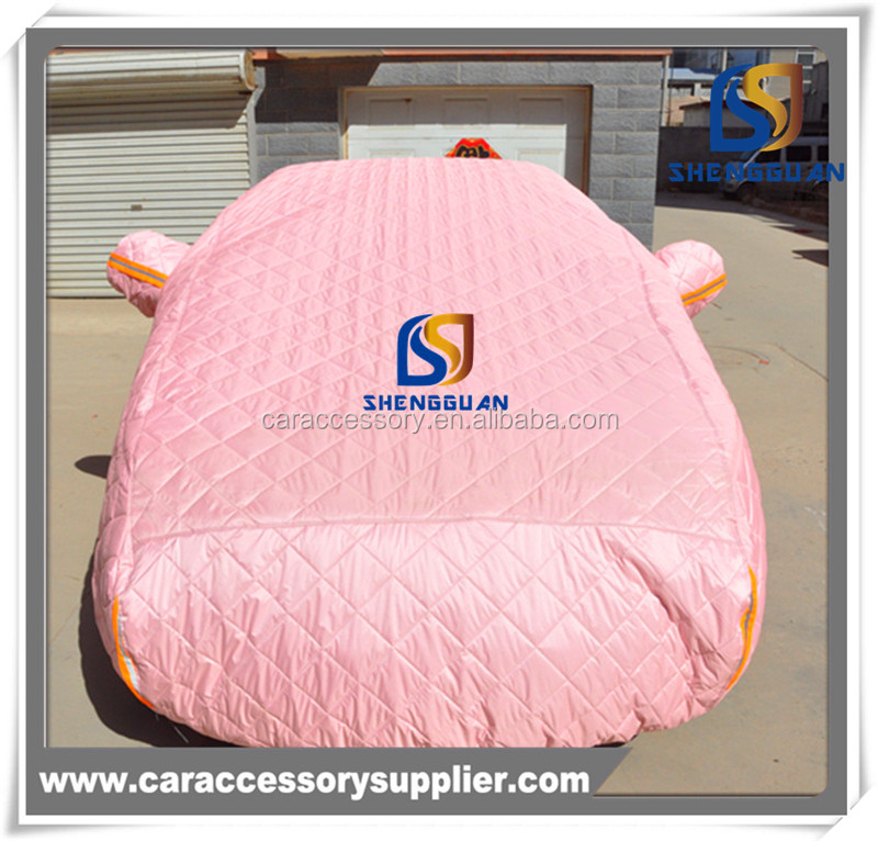 Pink popular Keep warm car cover