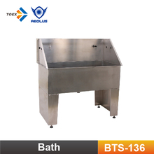 BTS-136 Economical Fully Welded Stainless Steel Bathing Tub Free standing bath tub for dog grooming