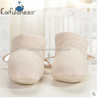 GOTS organic cotton thicken and thermal newborn baby shoes