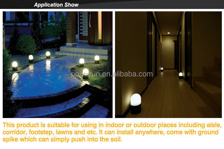 Most House Ground Floor Mounted Battery Oprated Garden Motion Sensor LED Lighting Fixture With Waterproof For Indoor And Outdoor